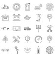 instrument icons set outline style vector image vector image