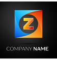 Letter Z logo symbol in the colorful square on vector image vector image