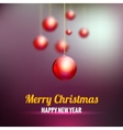 merry christmas background with red balls vector image vector image