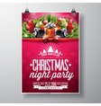 Merry Christmas Party flyer design vector image vector image
