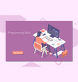 modern flat design isometric concept of vector image vector image