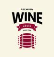 modern wine logo sign for tavern restaurant vector image vector image