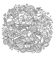nepal hand drawn cartoon doodles vector image