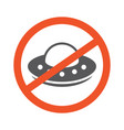 no ufo symbol design forbidden sign vector image
