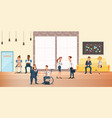 people at shared coworking space creative office vector image vector image