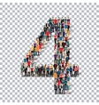 People number alphabet 3d vector image vector image