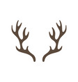 reindeer antlers isolated on white background vector image