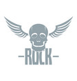 rock logo simple gray style vector image vector image