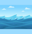 sea seamless game blue liquid surface ocean or vector image vector image