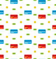 Seamless Pattern with Credit cards Bank Notes vector image vector image