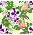 seamless texture tropical flowers spoted orchid vector image vector image