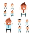 Set of business men4 vector image