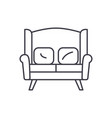 sofa for two line icon concept sofa for two vector image vector image