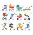 stroller or baby carriage child pram models vector image