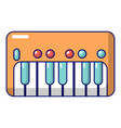 synthesizer piano icon cartoon style vector image vector image