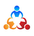 teamwork people working business logo vector image