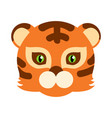 tiger cat carnival mask striped orange brown beast vector image vector image