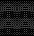 tile pattern with grey triangles black background vector image vector image