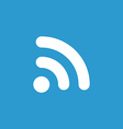 wifi icon white on blue background vector image