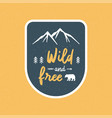 wild and free hand lettering with abstract vector image vector image