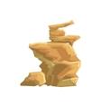 Yellow Desert Sandstone Natural Landscape Design vector image vector image