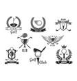 golf sport club symbol set for sporting design vector image