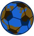 Planet soccer vector image