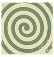Retro vintage grunge spiral background vector image