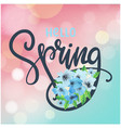 hello spring blue flower light blur background vec vector image