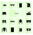 14 tank icons vector image vector image