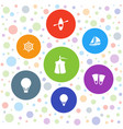 7 adventure icons vector image vector image