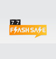 77 shopping day flash sale banner vector image