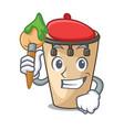 artist conga character cartoon style vector image vector image