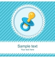 Baby shower with pacifier vector image