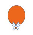 balloon bow globe vector image vector image