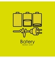 battery isolated icon design vector image vector image