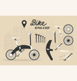bicycle stores set or bike shops and repair vector image