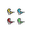 bird logo line mono line vector image vector image