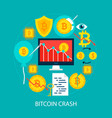 bitcoin crash flat concept vector image