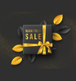 black friday sale horizontal poster or banner vector image