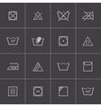 black washing icons set vector image vector image