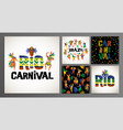 brazil carnival templates for carnival vector image
