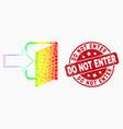 bright pixel exit door icon and scratched vector image vector image