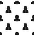 businessman icon in black style isolated on white vector image vector image