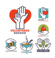 charity blood or donation or medical and vector image vector image
