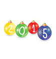 christmas ball 2015 color vector image vector image
