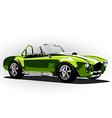 classic sport car cobra roadster green vector image vector image