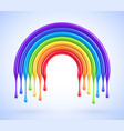 colorful rainbow arch with dripping paint vector image vector image