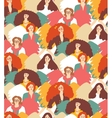 Crowd inspirational muses woman with wings vector image vector image
