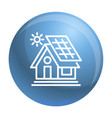 eco house icon outline style vector image vector image